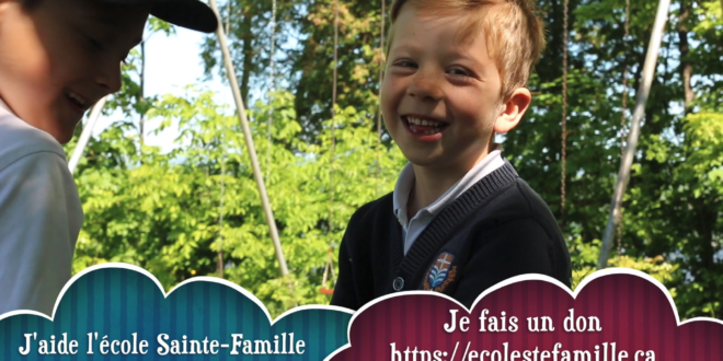 Canada : Please, can you help my school! Holy Family School of Lévis?