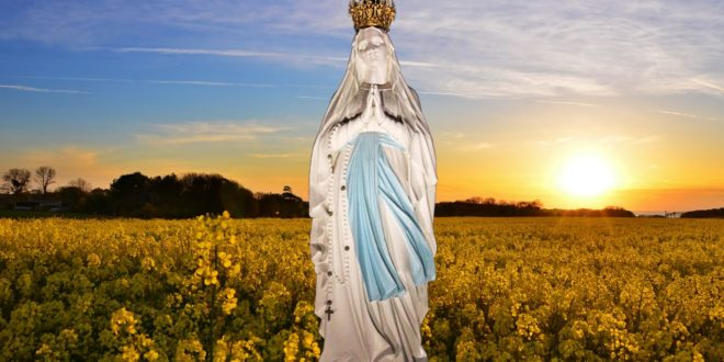 Mary immersed in divine transcendence