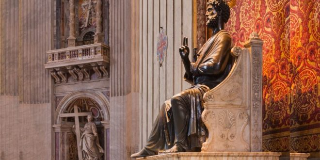 Rome without a pope. Bergoglio is there, but not Peter